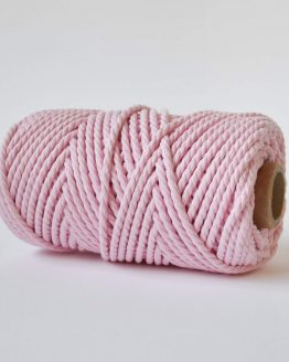 4 mm luxe macrame touw twisted pink