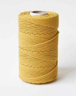 2,5 mm macrame touw koord 3-ply twisted gedraaid in aspen gold