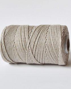 creadoodle 3 mm macrame katoen touw 3-ply linen mist