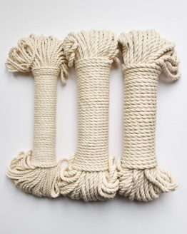 3 x bundle creadoodle macrame touw rope natural raw ecru