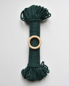 creadoodle premium collection macrame touw rope forest green planthanger pattern