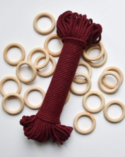 creadoodle premium collection macrame touw rope wine red planthanger pattern