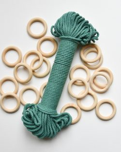 creadoodle premium collection macrame touw rope jade green groen planthanger pattern
