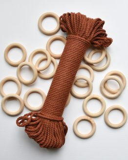 creadoodle premium collection macrame touw rope roest rust planthanger pattern