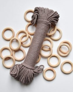 creadoodle premium collection macrame touw rope taupe planthanger pattern