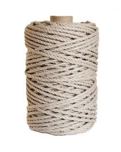 creadoodle luxe collection macrame weaving 5 mm beige 3-ply twisted rope touw