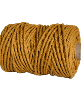 creadoodle premium collection macrame weaving 5 mustard touw rope 3-ply