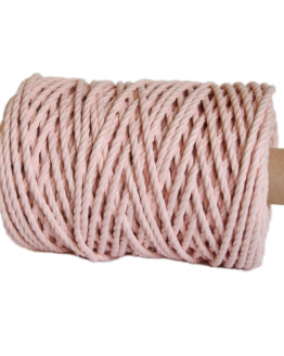 creadoodle premium collection macrame weaving 5 mm peach touw rope 3-ply