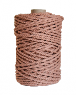 creadoodle premium collection macrame weaving 5 mm antique blush touw rope 3-ply