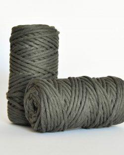 5 mm macrame weaving string oekotex cotton katoen koord army green