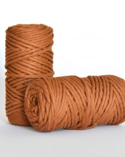 5 mm macrame weaving string oekotex cotton katoen koord caramel
