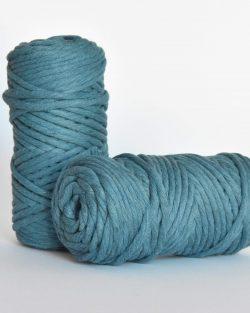 5 mm macrame weaving string oekotex cotton katoen koord denim