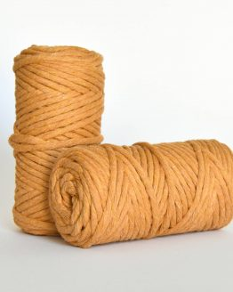 5 mm macrame weaving string oekotex cotton katoen koord amber