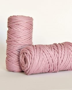 5 mm macrame weaving string oekotex cotton katoen koord dusty rose