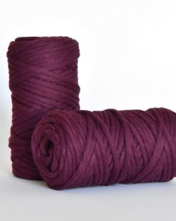 5 mm macrame weaving string oekotex cotton katoen koord boysenberry