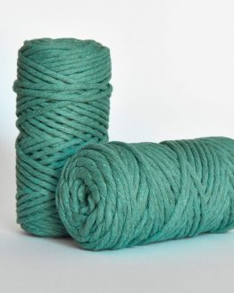 5 mm macrame weaving string oekotex cotton katoen koord jade