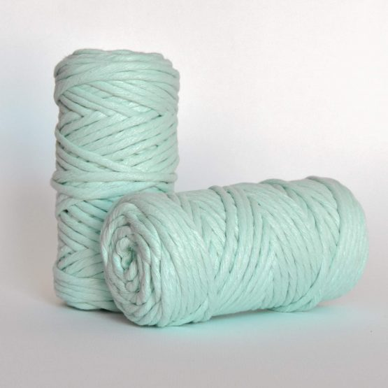 5 mm macrame weaving string oekotex cotton katoen koord mint
