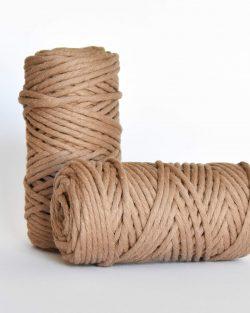 5 mm macrame weaving string oekotex cotton katoen koord mocha