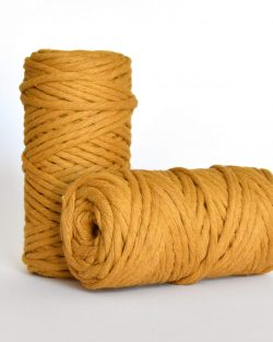 5 mm macrame weaving string oekotex cotton katoen koord mustard