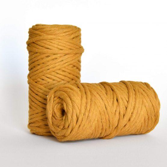 5 mm macrame weaving string oekotex cotton katoen koord mustard