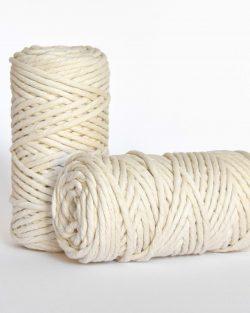 5 mm macrame weaving string oekotex cotton natural raw katoen koord