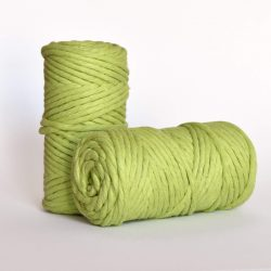 5 mm macrame weaving string oekotex cotton katoen koord pistachio