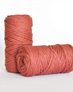 5 mm macrame weaving string oekotex cotton katoen koord red earth