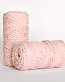 5 mm macrame weaving string oekotex cotton katoen koord rose quartz