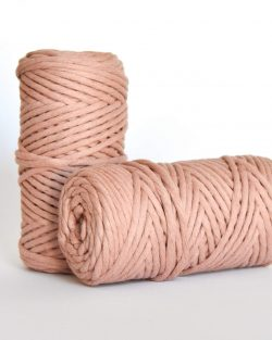 5 mm macrame weaving string oekotex cotton katoen koord terra pink