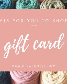 Creadoodle gift card cadeau kaart