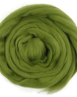 creadoodle roving Wool moss 632 Lontwol