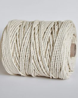 creadoodle luxe 5 mm twisted macrame touw koord rope natural 3-ply