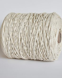 creadoodle luxe 4 mm twisted macrame touw koord rope natural 3-ply