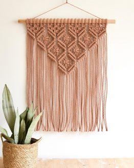 Terra pink wall hanging