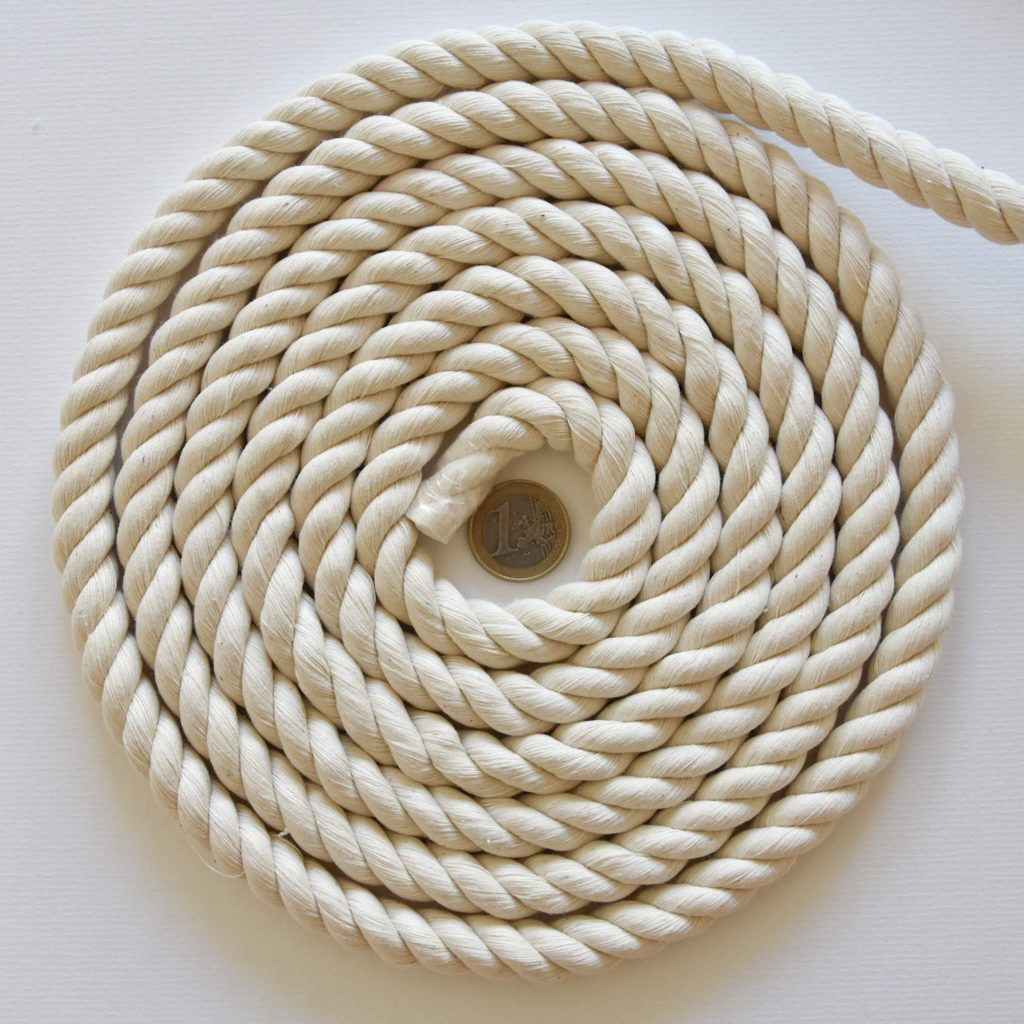 Creadoodle 12 mm natural cotton rope 3-ply