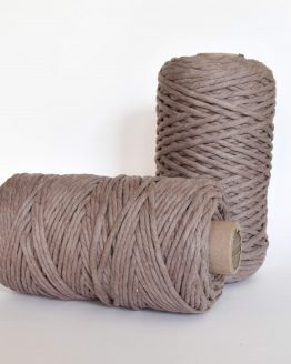 creadoodle luxe collection macrame weaving 5 mm koord 1-ply cord taupe