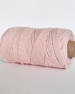 creadoodle luxe collection macrame weaving 5 mm koord 1-ply cord rosequartz