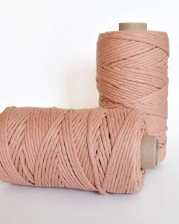 creadoodle luxe collection macrame weaving 5 mm koord 1-ply cord terra pink