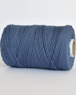 creadoodle 2.5 3 mm katoen koord 3-ply twisted gedraaid gerecycled cotton rope macrame twisted denim drift