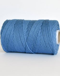 creadoodle 2.5 3 mm katoen koord 3-ply twisted gdraaid gerecycled cotton rope twisted true blue