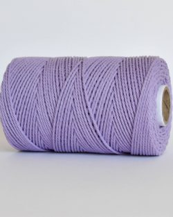 creadoodle 2.5 3 mm katoen koord 3-ply twisted gedraaid gerecycled cotton rope macrame twisted lavender