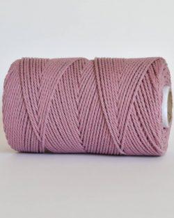 creadoodle 2.5 3 mm katoen koord 3-ply twisted gedraaid gerecycled cotton rope macrame twisted primrose pink