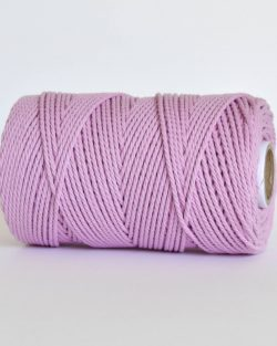 creadoodle 2.5 3 mm katoen koord 3-ply twisted gedraaid gerecycled cotton rope macrame twisted orchid pink