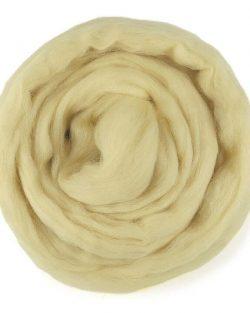 creadoodle custard 604 wool roving lontwol
