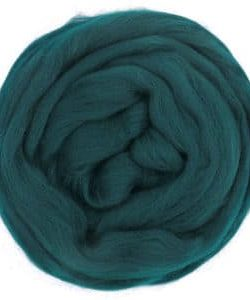 creadoodle wool roving lontwol dark petrol 631