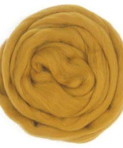 creadoodle wool roving lontwol ochre 697