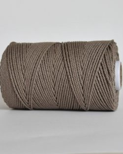creadoodle 2.5 3 mm katoen koord 3-ply twisted gedraaid gerecycled cotton rope macrame twisted tender taupe