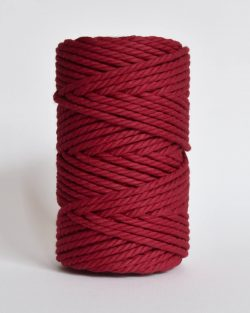 creadoodle soft collection 5 mm macrame rope touw 5 mm katoen koord 3-ply twisted gedraaid gerecycled cotton rope macrame twisted poppy parade