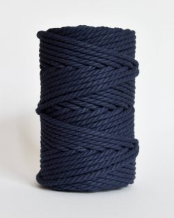 creadoodle soft collection 5 mm macrame rope touw 5 mm katoen koord 3-ply twisted gedraaid gerecycled cotton rope macrame twisted navy blue