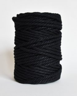 creadoodle soft collection macrame rope touw 6 mm katoen koord 3-ply twisted gedraaid gerecycled cotton rope macrame twisted black